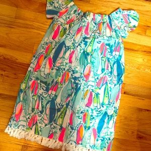 Lilly Pulitzer Beach and Bae Marble Dress S NWT